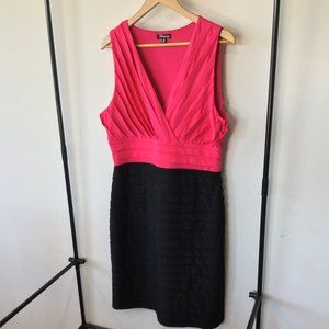 TEABERRY Pink and Black Cocktail Dress (Size 14)